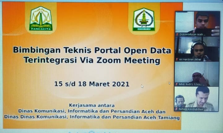 BIMBINGAN TEKNIS PORTAL OPEN DATA TERINTEGRASI VIA ZOOM MEETING